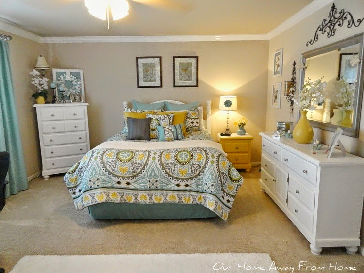 Our Home Away from Home shared her Unplanned Bedroom Changes featured at One More Time Events.com