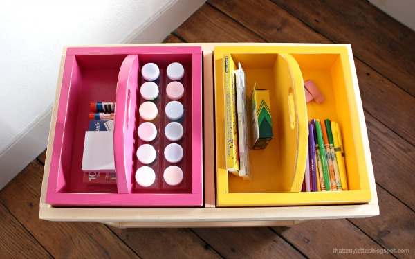 diy portable art caddy
