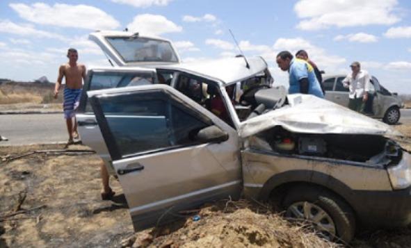 Grave acidente registrado entre as cidades de Pau dos Ferros e Alexandria