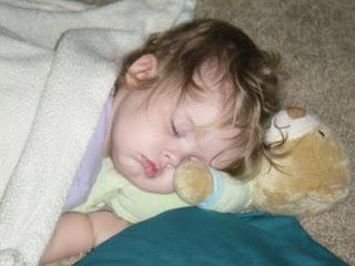 Sasha on Teddy Bear