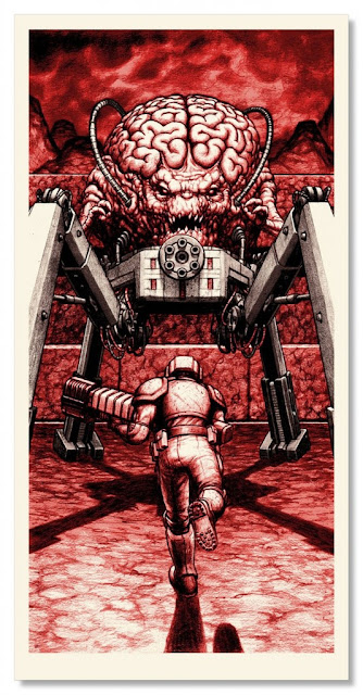 Boss Fight 2 Ode to Id Video Game Themed Screen Print Series by Nick Derington & Nakatomi - The Mind