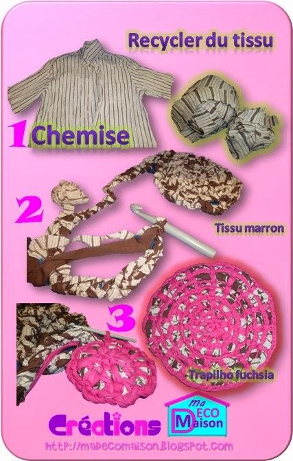 napperon en tissu recyclé1