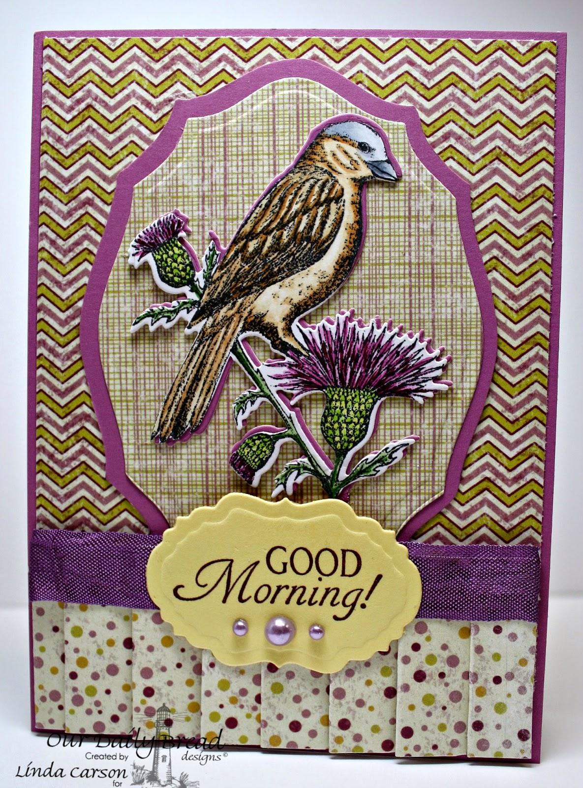 ODBD, Sparrow, Sparrow die, Glory, Rustic Beauty Paper, Vintage Labels die,Elegant Ovals die, designer Linda Carson