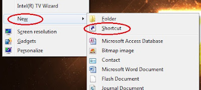 membuat shortcut shutdown