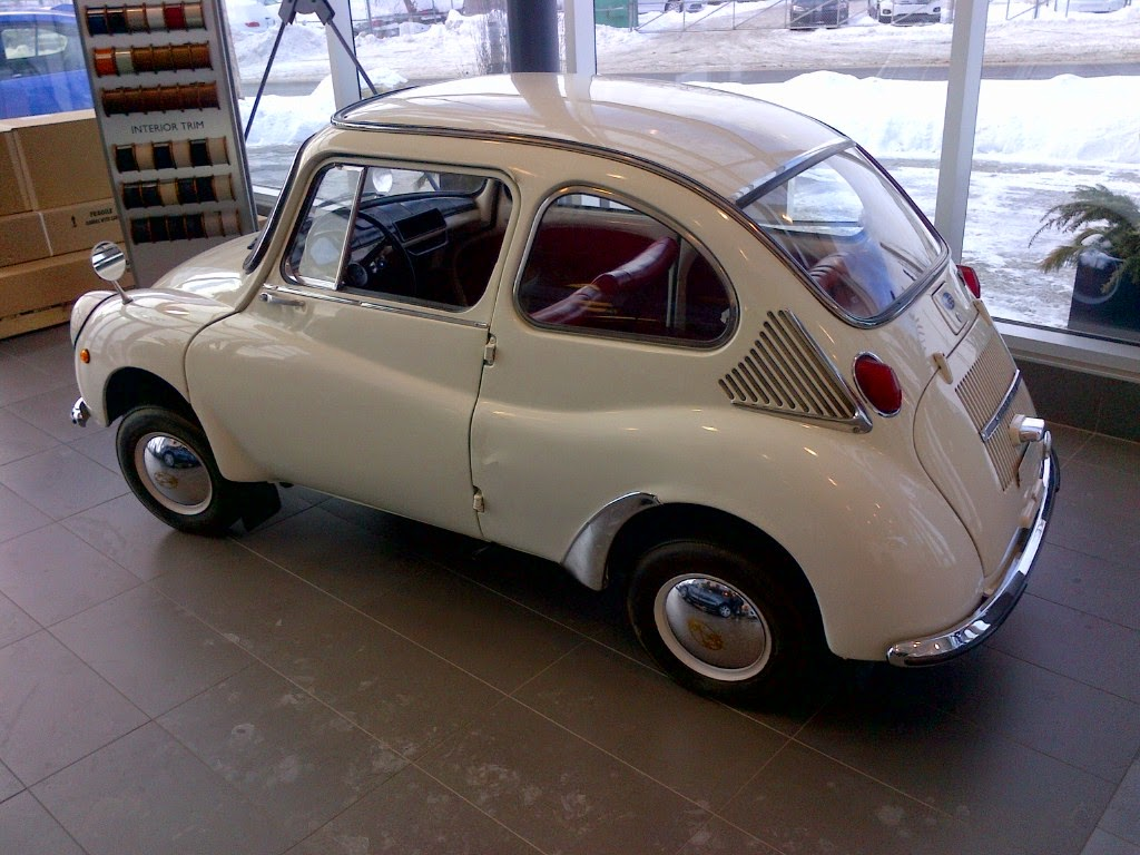 Autoliterate january 2015 i had no idea that subaru made anything like this below are the specs en francais for the subaru 360 it was in production from 1958 to 1971 vanachro Image collections