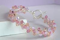 Rose Water Wire Crochet Bracelet