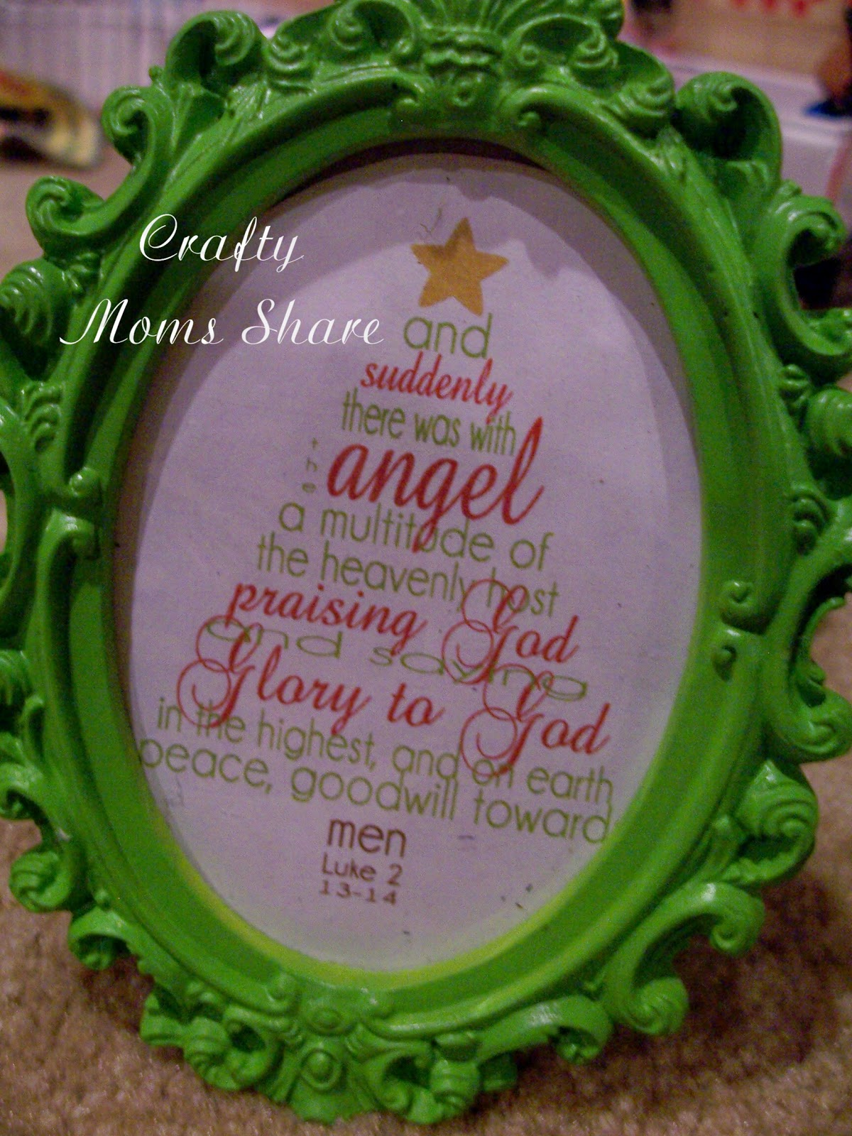 Crafty moms share focus on the nativity i put them in little frames i bought at michaels last year i also used one from simply klassic home which is a scripture verse jeuxipadfo Image collections