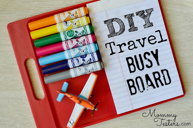 Mommy Testers, DIY kids activity board