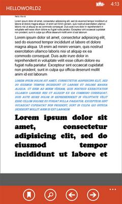 WP 8 PDF reader