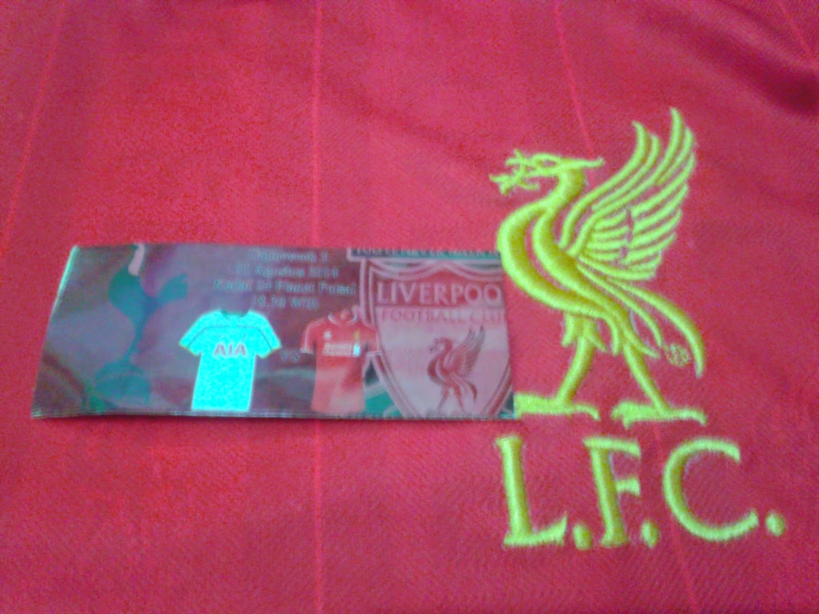 Sticker pertandingan Totenham vs Liverpool