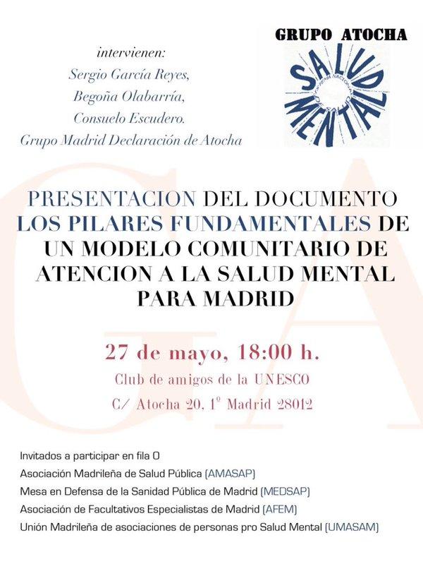 27 abril Atención salud mental