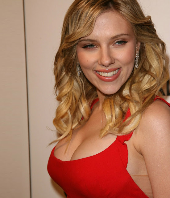 Scarlett Johansson in red dress