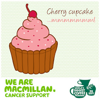 Macmillan Coffee Morning Cake Labels