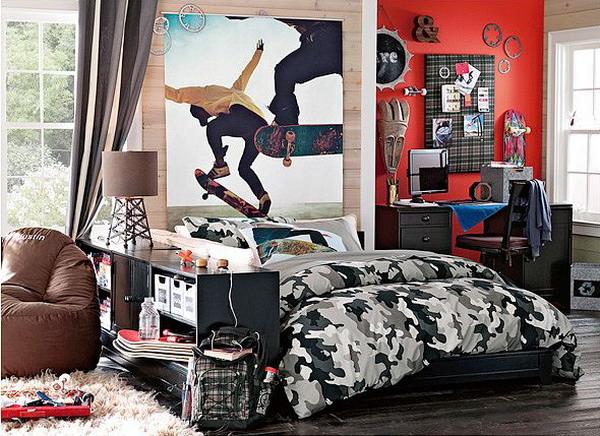 Tween teen boys room decorating ideas design dazzle for Boys army bedroom ideas
