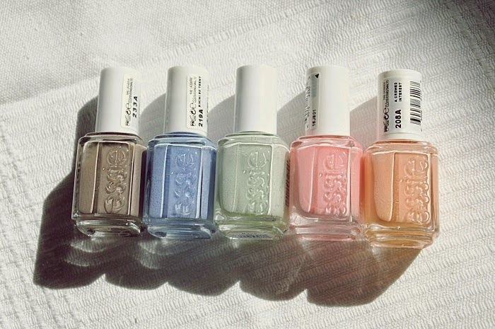 essie: miss fancy pants, bikini so teeny,absolutely shore | we're in it together, a crewed interest