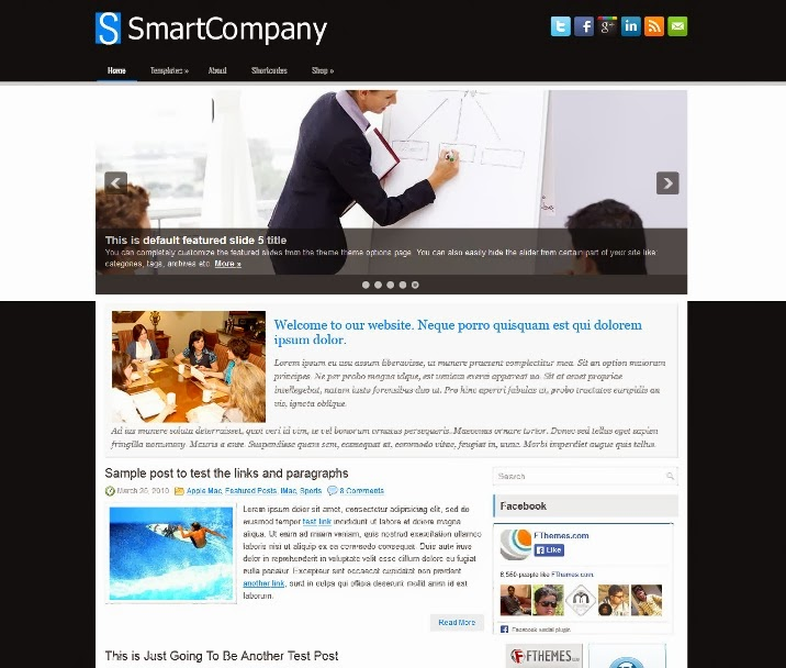 SmartCompany - Free WordPress Theme