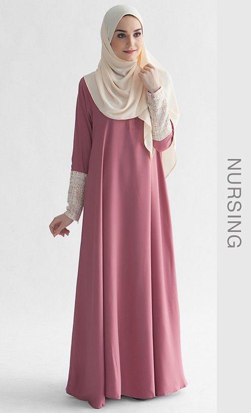 model baju gamis jubah muslimah khalisa dress gamis