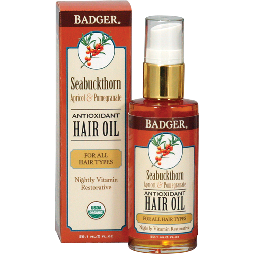 Badger Seabuckthorn Antioxidant Hair Oil