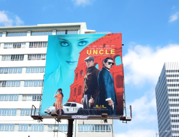 Man from UNCLE movie billboard