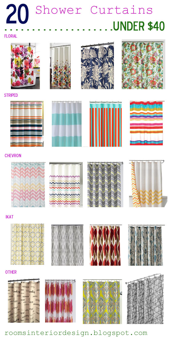 ROOMS: Parade of Inexpensive Shower Curtains