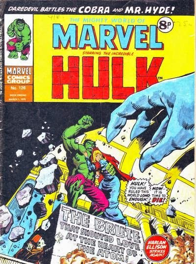 Might World of Marvel #127, the Hulk and Psyklop