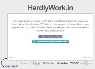 hardlyworkin landignpage