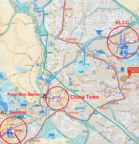 Mapa da região de Kuala Lumpur