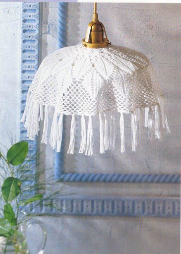 963 Crocheted lampshades.