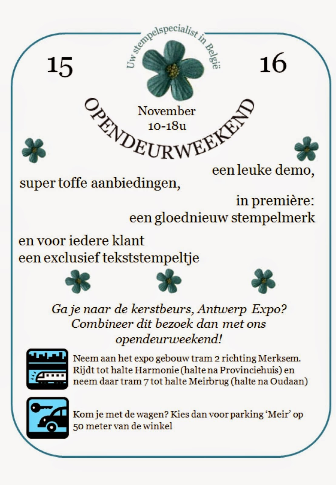 open deur weekend 15 en 16 november