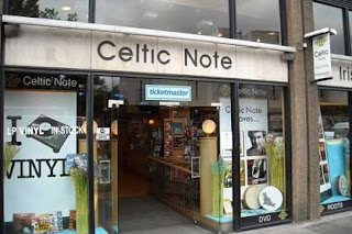 Celtic Note music store on Dublin's Nassau Street.