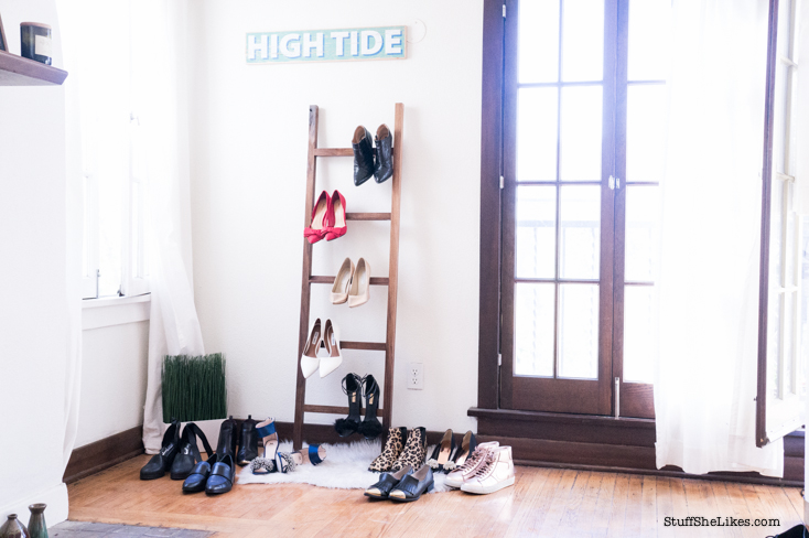 Shoe ladder, best way to display your shoes, shoe dazzle, zara, steven madden loafers, Ted Baker pumps, best bloggers, top LA Bloggers, Top ten bloggers, black fashion bloggers, fashion bloggers, blonde fashion blogger,