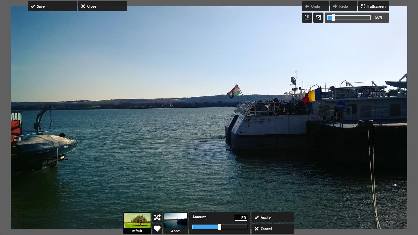 editare foto online - aplicare filtru foto