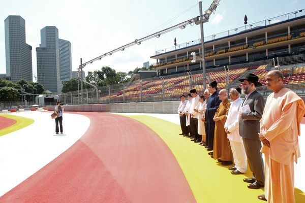 blessing of singapore grand prix track
