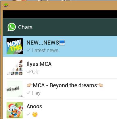 bluestacks whatsapp friend list