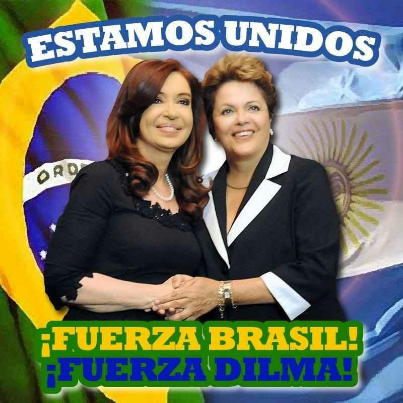 Cristina Kirchner abriu um espaço na sua torcida por Dilma Rousseff para aplaudir o seu colega ideológico Vladimir Putin