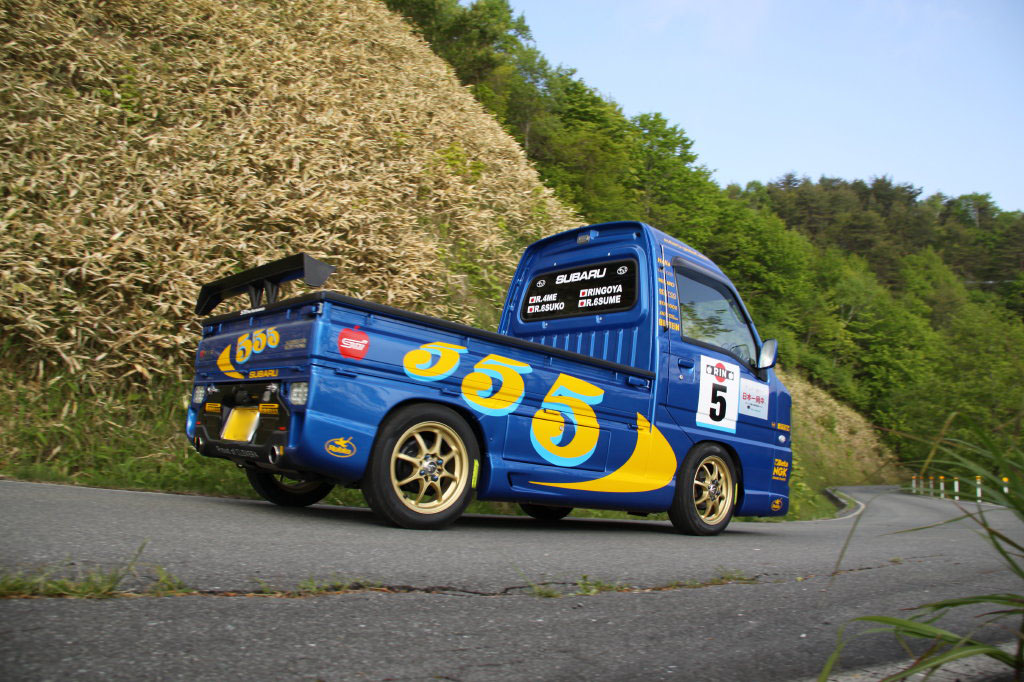 Subaru Sambar, mała ciężarówka, kei truck, rajdowa, japońska, jdm, fotki