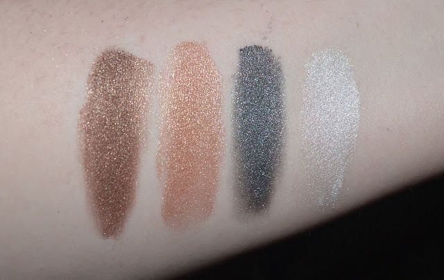 swatches of ebay loose eyeshadow pigment