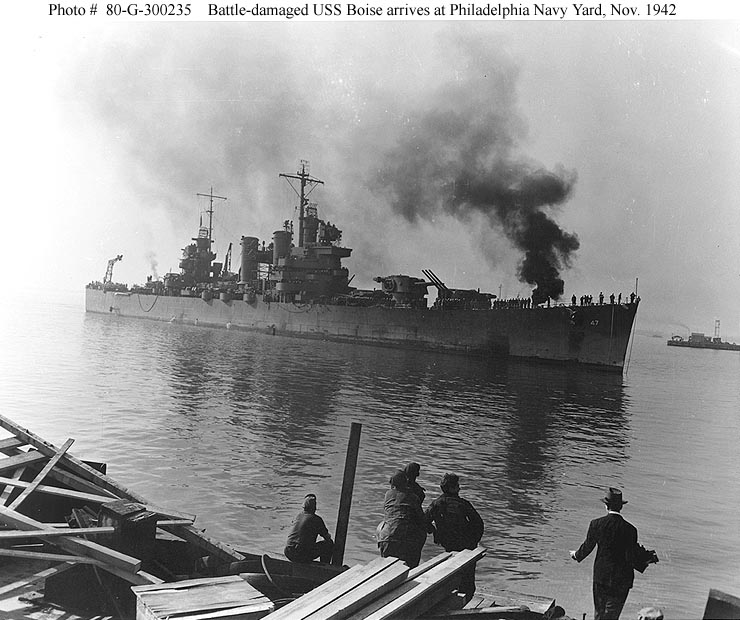 Image result for uss boise smoking pic