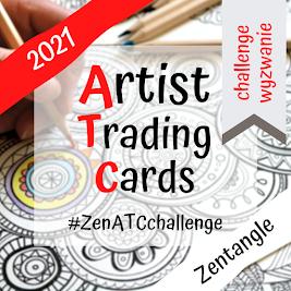 Wyzwanie Zentangle ATC 2021