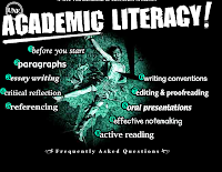 academic literacy essay The academic literacy course runs for 4 or 5 weeks and aims to give students guidance in how to deal with the main writing and reading tasks that are required of them.