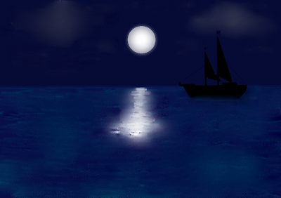 Moonlight over Sea polished