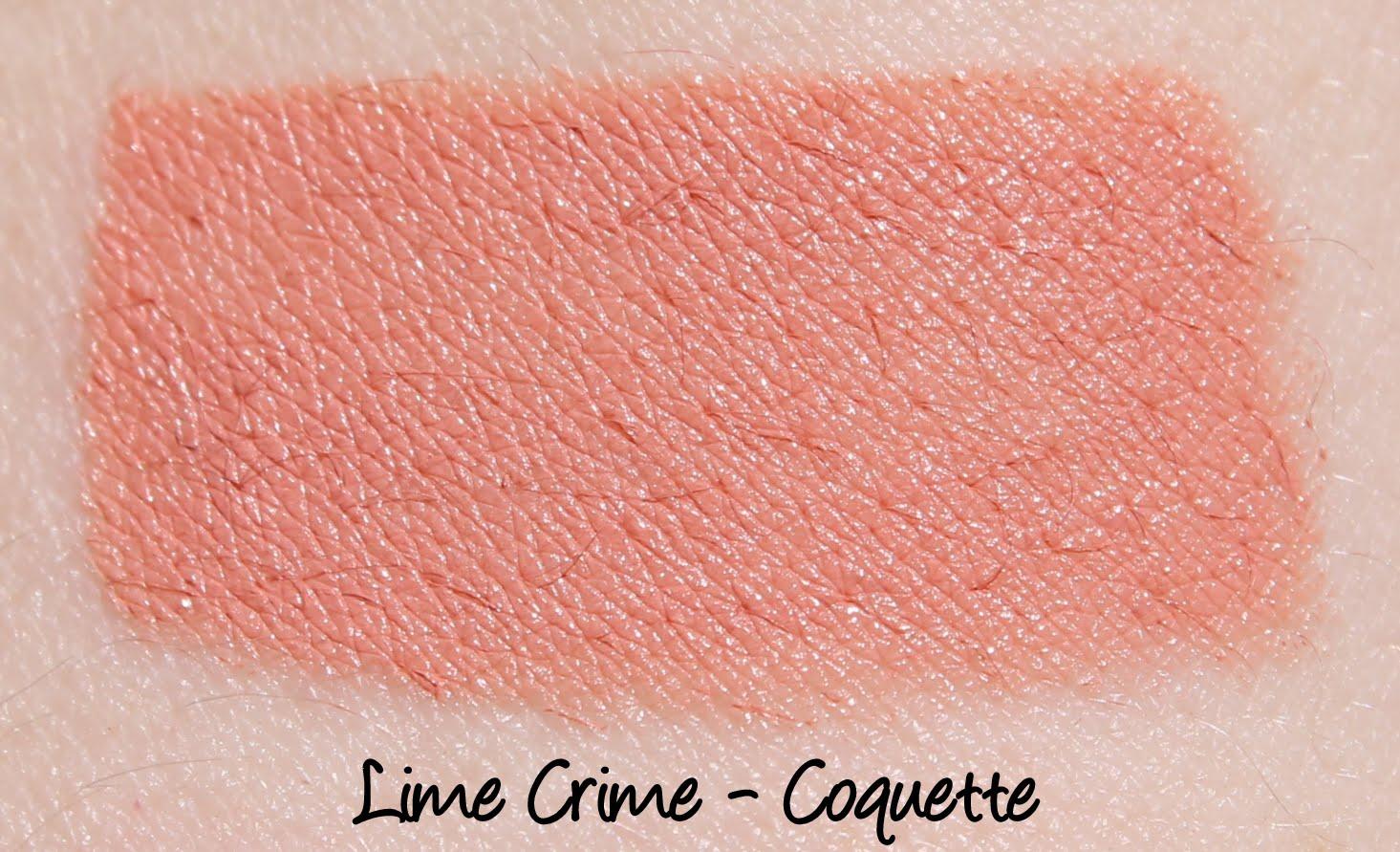 Lime Crime Coquette Lipstick Swatch
