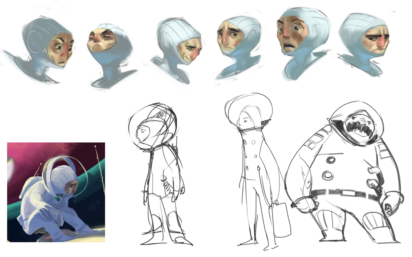 Cartoon Character Design Process : Sketch eth book march