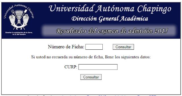 Lista de estudiantes aceptados en Chapingo 2015