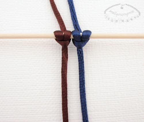Makrama węzeł festonowy 1
