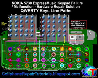 5730 QWERTY keypad ic full jumper