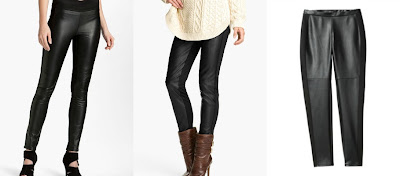 High | Low: mixed-media (faux) leather leggings - Target, Michael Kors, Paige Denim