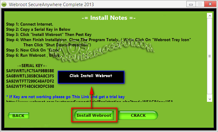 Webroot Secureanywhere Install