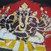 Ganesha Batik Paintings