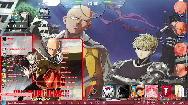 One Punch Man Win 7 Theme